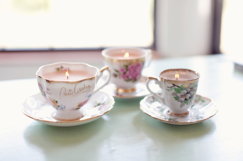 DIY Teacup Candles Christmas